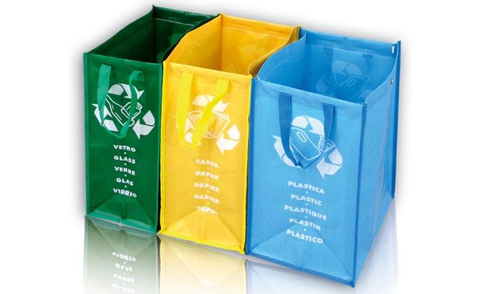 Set 3 borse per differenziata