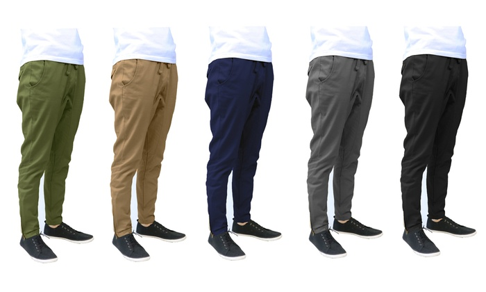 Men's Cotton Tapered Ankle-Zip...
