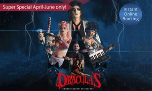 Dracula's (Gold Coast): Cabaret Show Super Special with a Three-Course Dinner on Tue-Fri for Up to Ten at Dracula's (Up to $1,050 Value)