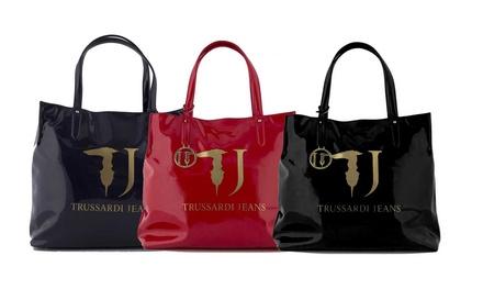 Borsa shopper Trussardi Jeans in vernice disponibile in 3 colori
