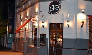 Ara Cocina Al Disco La Plata: Desde $339 por almuerzo o cena para dos o cuatro: salad bar + disco a elección + copa en Ara Cocina Al Disco La Plata