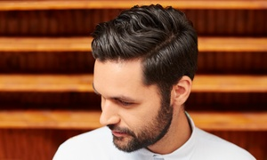 Burnt District Salon & Spa: Haircut, Conditioning, and Blowout or Men's Haircut and Scalp Massage at Burnt District Salon & Spa (60% Off)