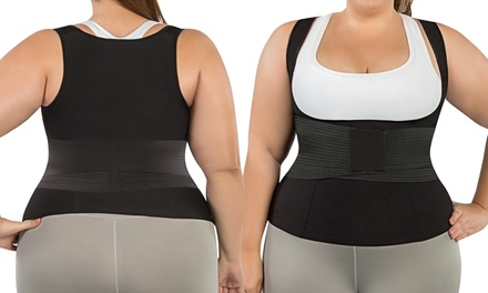 Plus Size Waist Trimmer Vest and Waist Trainer Corset Belt