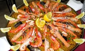 Restaurante Escaleritas: Menú de parrillada de pescados y mariscos o paella para 2 o 4 personas desde 34,95 € en Restaurante Escaleritas