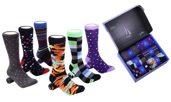 c0ce4e9fb80e Up To 53% Off on Men's Dress Socks (6-Pack) | Groupon Goods