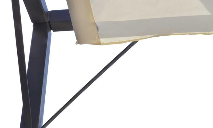 Divano Rattan Lettino Tondo Componibile Tendalino A Cupola.Tendalino Da Giardino Vidaxl Tenda Parasole Da Giardino Pieghevole