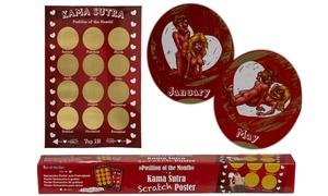 Poster calendrier à gratter Kama-sutra
