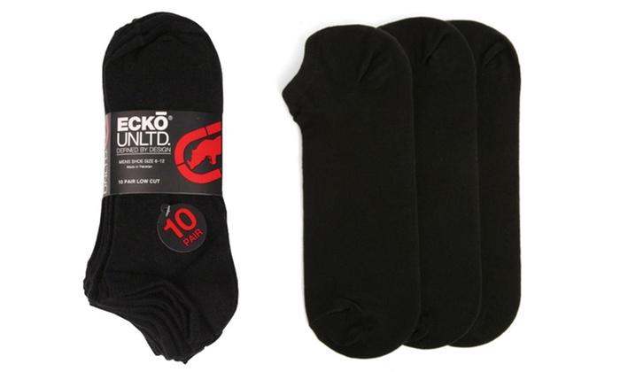 ECKO Unlimited Men's Black Low Cut Socks (10 Pairs)