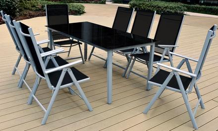 5 o 9tlg alu garten sitzgruppe groupon goods. Black Bedroom Furniture Sets. Home Design Ideas