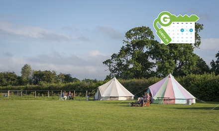 Wiltshire: Eco Glamping Bell Tent with a BBQ Kit