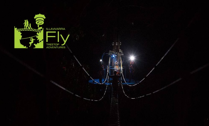 Illawarra Fly: After-Dark Zipline Tour + Meal - Child ($40) or Adult ($65), Knights Hill (Up to $100 Value)