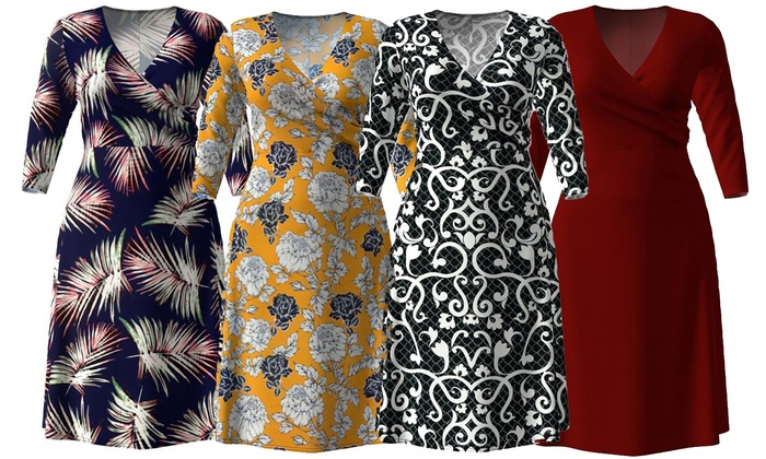 Up To 76% Off on Women\'s A-Line Dress | Groupon Goods