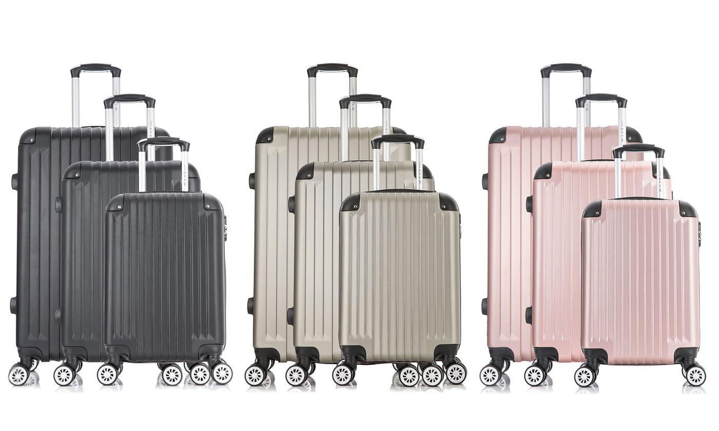 Three-Piece Tage Suitcase Set