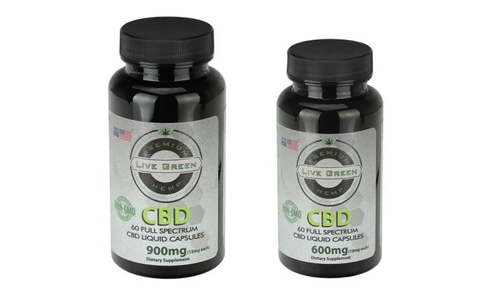 Up To 40% Off on Live Green Hemp CBD Capsules | Groupon Goods