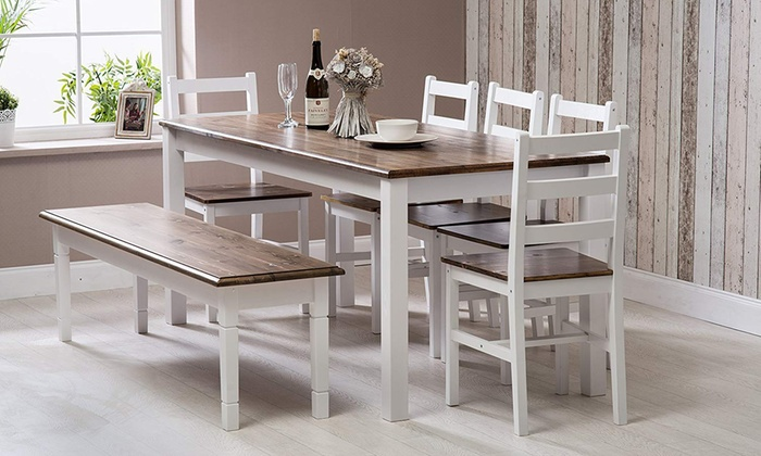 Delilah Dining Set with Chairs and Optional Bench
