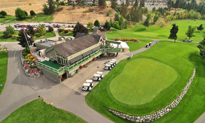 Sunset Ranch Golf and Country Club - Kelowna Airport: Nine Holes of Golf with Cart Rental for Two or Four at Sunset Ranch Golf and Country Club (Up to 37% Off)