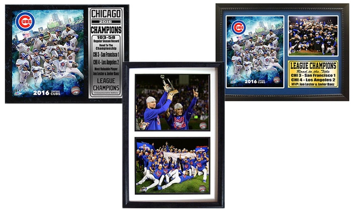 Chicago Cubs 2016 National League Champions Plaques and Frames: Chicago Cubs 2016 National League Champions Plaques and Frames