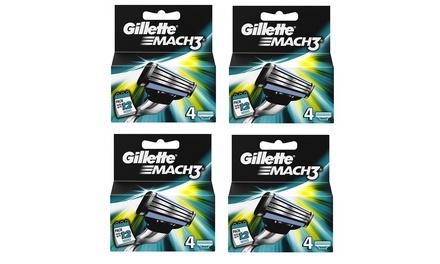 1 à 4 lots de 4 lames de rasoir Gillette Mach3