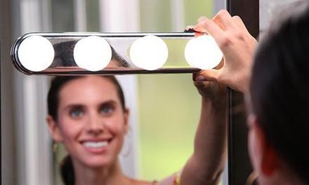1 o 2 luci a specchio per toeletta a LED con montatura color argento