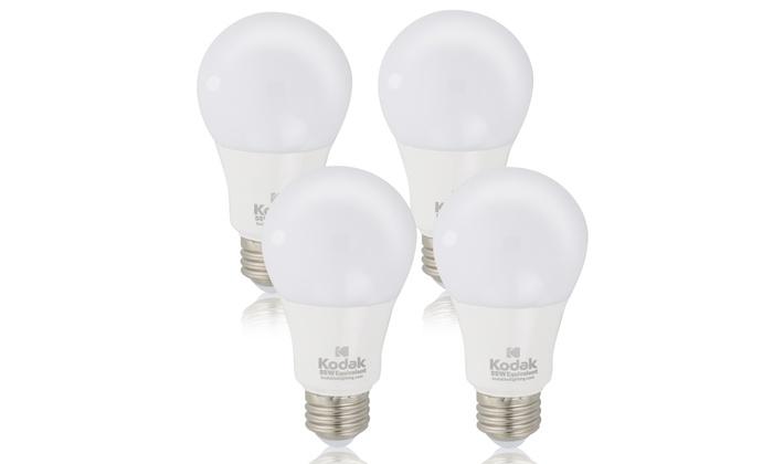 Kodak 4-Pack A19 LED Bulbs (40 or 60 Watt Halogen Equivalent)