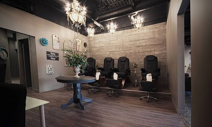Concrete Blonde hair.body - Concrete Blonde hair.body: Signature Pedicure with Signature or Shellac Manicure at Concrete Blonde hair.body (49% Off)
