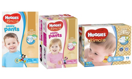From $19.95 for a Huggies Ultimate Nappy Pants Pack for Girls or Boys in a Choice of Size (Don't Pay up to $56.68)