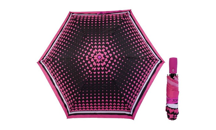 Betsey Johnson Auto Open-and-Close 3-Section Umbrella | Groupon