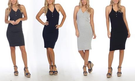 Women's Halter-Neck Tank Dress