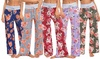 Lilly Posh Women's Floral Lounge Pants. Plus Sizes Available.