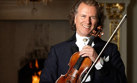 Ticketmaster: Andre Rieu at the Credit Union Centre on Mon., Sept. 12 at 7:30PM: Reserved Seating (Sections E-J and M-R) - Andre Rieu in Saskatoon