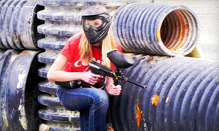 PBC Paintball Park - Startex: $22 for All-Day Paintball Package with Equipment Rental, Air, and 500 Paintballs at PBC Paintball Park ($44 Value)