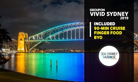 Vivid Festival Cruise: Child 012 Years $22 or Adult $32 with Sea Sydney Harbour Up to $34 Value