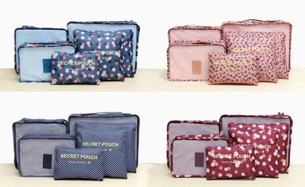 SixPiece Patterned Luggage Lightweight Organiser Sets