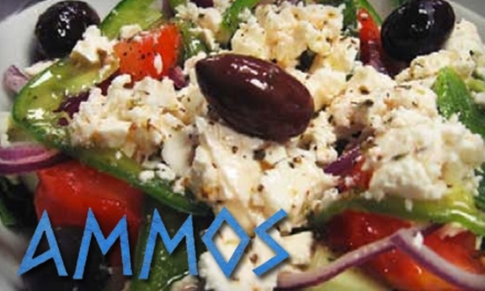 Ammos Authentic Greek Cuisine - Northeast Virginia Beach: $15 for $30 Worth of Traditional Greek Fare at Ammos Authentic Greek Cuisine