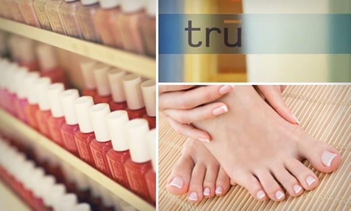 Tru - Financial District: $39 for a Moji-Toe Pedicure and Vanilla Sky Manicure at Tru ($85 Value)
