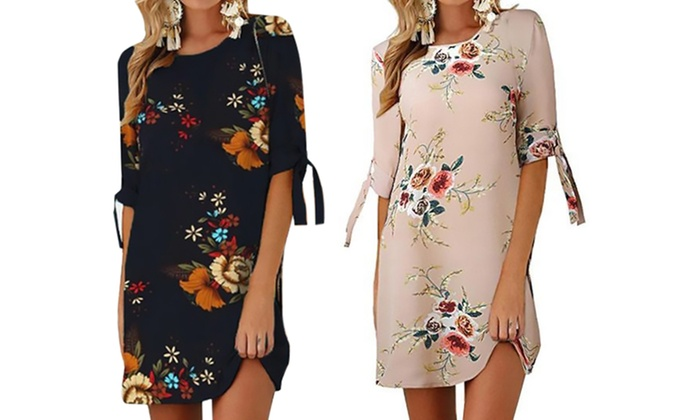 1 Ou 2 Robes Casual Legeres Imprime Fleurs