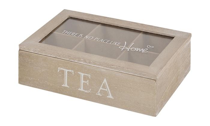 Boite th en bois groupon shopping - Boite a the 9 compartiments ...