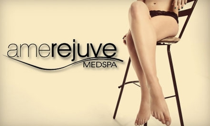 Amerejuve - Great Uptown: $150 for Three Laser Hair-Removal Treatments for One Area at Amerejuve (Up to $657 Value)