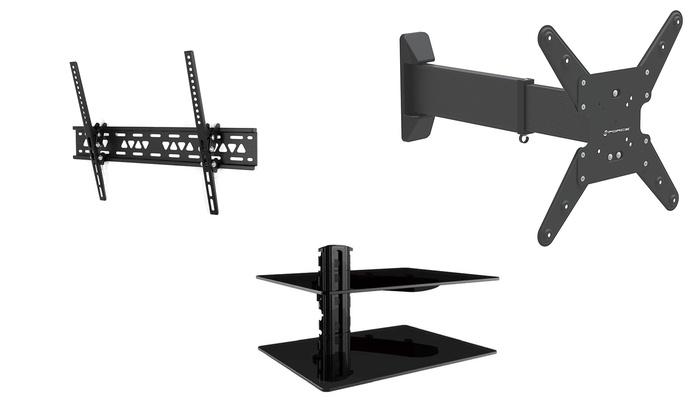 gforce tv wall mounts and dvd shelves groupon. Black Bedroom Furniture Sets. Home Design Ideas