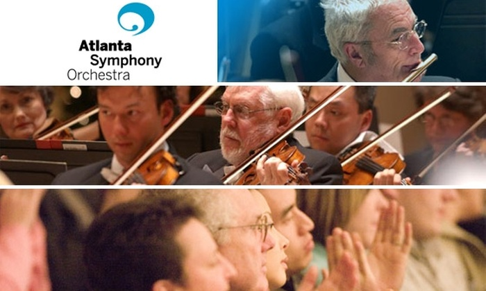 $58 for Two Dress Circle Tickets at the Atlanta Symphony Orchestra. Choose from Seven Concerts.