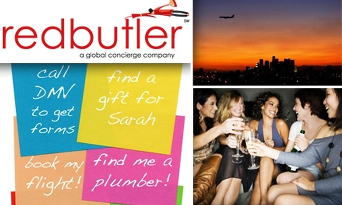 Red Butler - Los Angeles: $55 for 45 Personal-Assistant Tasks at Red Butler Concierge Service