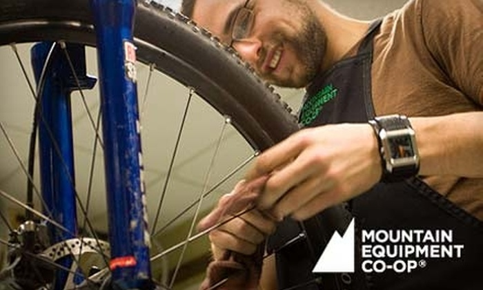 Mountain Equipment Co-Op - Downtown Halifax: Basic or Advanced Bike Tune-Up at Mountain Equipment Co-op. Choose Between Two Options.