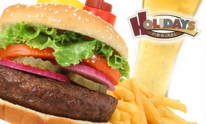 Holidays Bar and Grill - Menasha: $8 for $16 Worth of Bar Fare and Drinks at Holidays Pub and Grill in Neenah