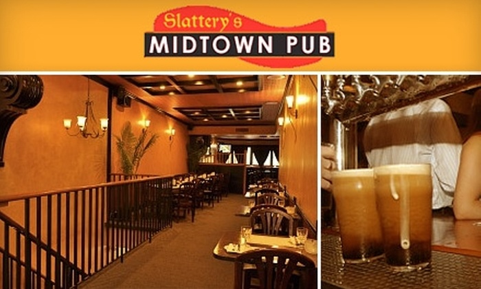 Slattery's Midtown Pub - Midtown South Central: $15 for $30 Worth of Pub Fare and Drinks plus a Free Shot of the Day at Slattery's Midtown Pub