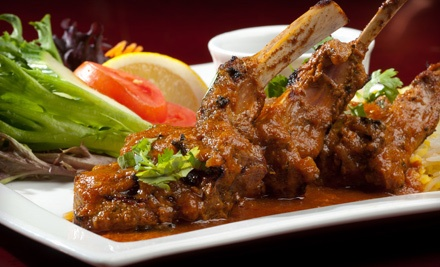 8-Dish Indian-Fusion Family-Style Dinner for 2 (a $90 value) - Copper Chimney Restaurant & Bar in Vancouver