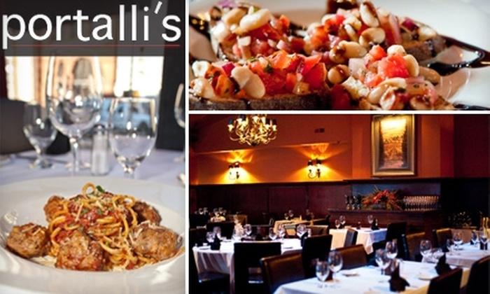 Portalli's - Ellicott City: $20 for $40 Worth of Fine Italian Cuisine and Drinks at Portalli's