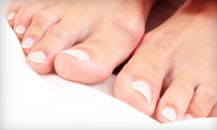Caring Podiatry - Multiple Locations: Medical-Grade Pedicure or Laser Treatment for Ten Fungal Nails at Caring Podiatry (Up to 71% Off)