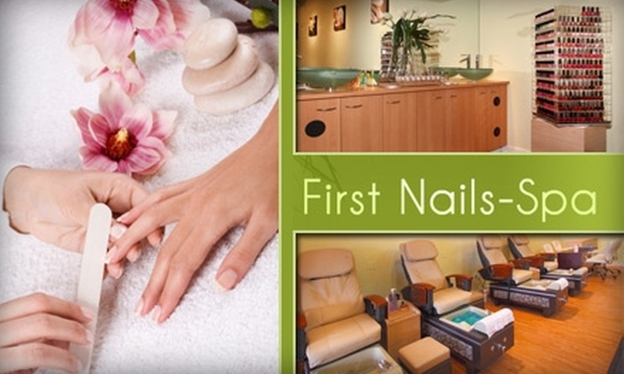 First Nails and Spa - Columbus: $9 for an Express Manicure (a $20 value) or $9 for $22 Toward Artificial Nail Services at First Nails and Spa