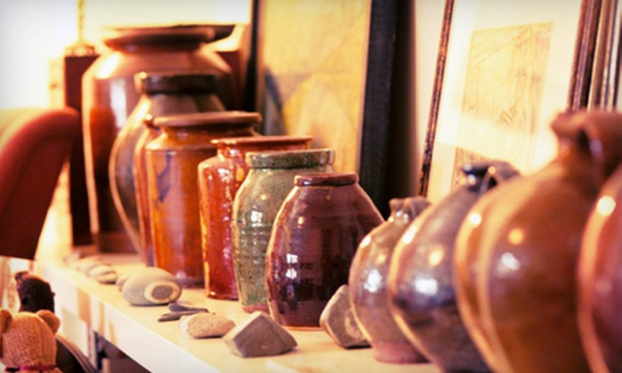 Crankpots Ceramic Studio - South Central Edmonton: $20 for Pottery-Painting Outing with Fees, Glazing & $25 Worth of Ceramics at Crankpots Ceramic Studio (Up to $38 Value)