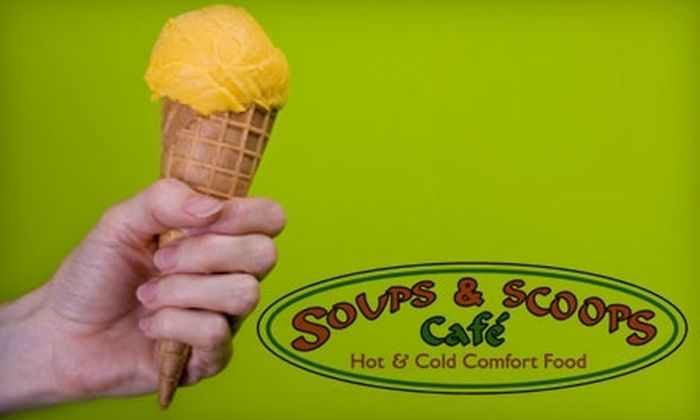 Soups & Scoops Café - Multiple Locations: $5 for $10 Worth of Comfort Fare and Hilton Head Ice Cream at Soups & Scoops Café